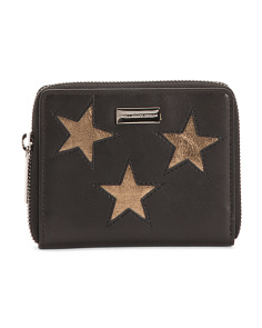 Made In Italy Bronze Stars Small Wallet