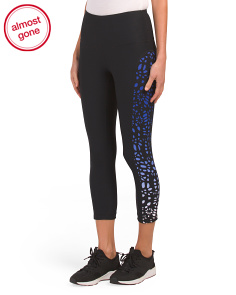 High Waist Laser Cut Ombre Capris