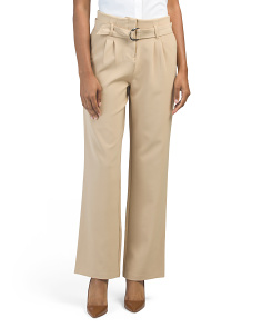 Juniors Belted High Waist Pant