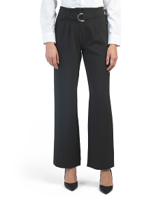 Juniors Belted High Waist Pants