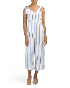 Juniors Multi Stripe Jumpsuit