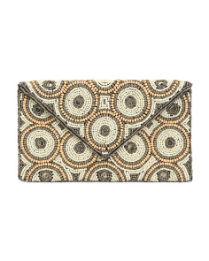 Beaded Canvas Clutch