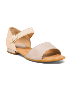 Peep Toe Mary Jane Leather Sandals