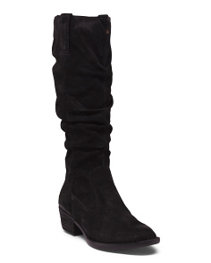 Tall Shaft Suede Boots