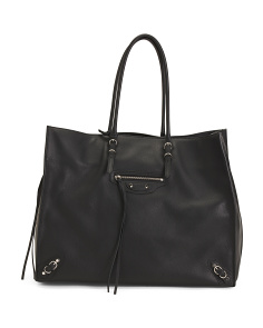 Made In Italy Papier Leather Tote