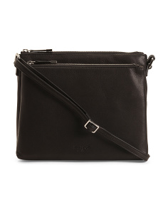 Leather Crossbody With Silver Hardware
