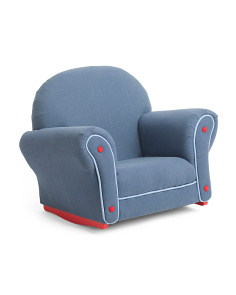 Denim Rocker With Slip Cover