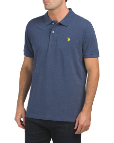 Short Sleeve Heather Pique Classic Polo
