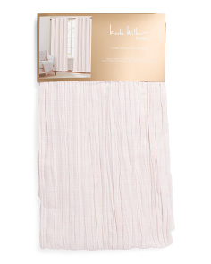 38x96 Set Of 2 Lined Linen Look Crinkle Curtains