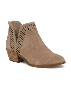 Suede Side Cut Ankle Booties