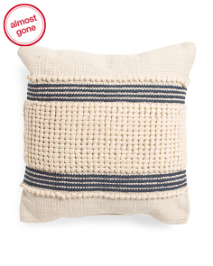 Made In India 20x20 Clyde Textured Pillow