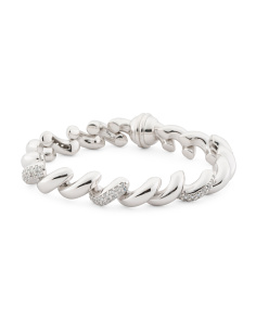 Made In Italy Sterling Silver Cz San Marco Bracelet