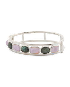 Made In Italy Sterling Silver Amethyst Labradorite Bracelet