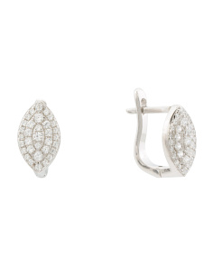 Made In Italy Sterling Silver Cz Earrings