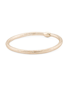 Made In Italy 14k Gold Stretch Mesh Bracelet