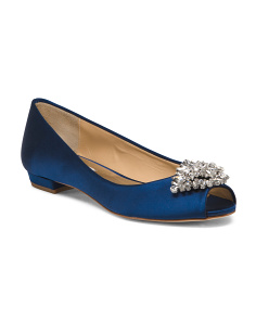 Peep Toe Evening Flats