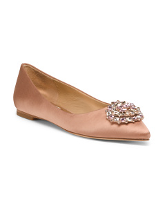 Embellished Pointy Toe Evening Flats
