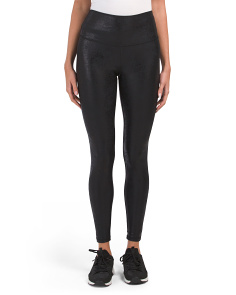 High Waist Textured Leggings