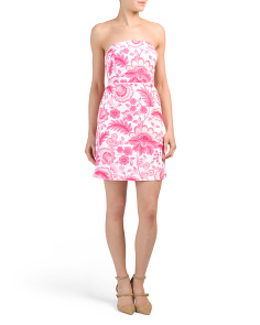 Georgia Strapless Printed Dress
