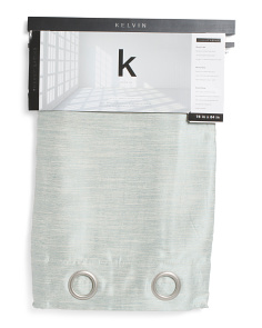 38x84 Set Of 2 Blackout Linen Look Curtains