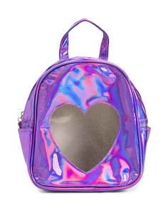 Girls Holographic Mini Backpack