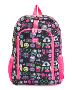 Girls Emoji Backpack