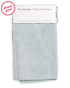 54x96 Set Of 2 Linen Look Curtains
