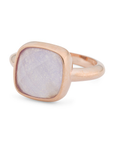 Made In Italy Violet Quartzite Doublet Ring