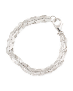 Made In Italy Diamond Cut Paillette Bracelet