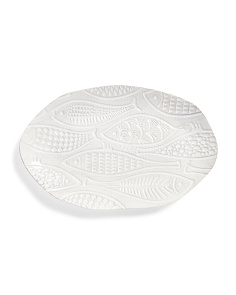 16in Engraved Fish Oval Platter