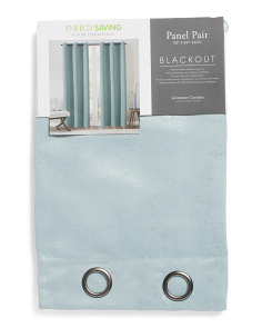 38x84 Set Of 2 Blackout Metallic Curtains