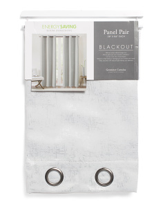 38x84 2pc Blackout Metallic Curtains