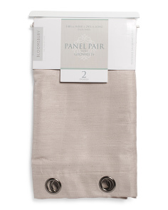 55x95 Set Of 2 Faux Linen Curtains