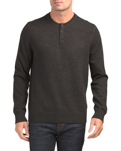 Henley Wool Blend Sweater