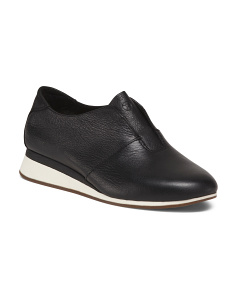 Wide Slip On Leather Shoes