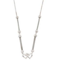 Sterling Silver And Stainless Steel Cherie Amour Necklace