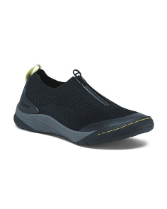 Knit Front Zip Comfort Sneakers