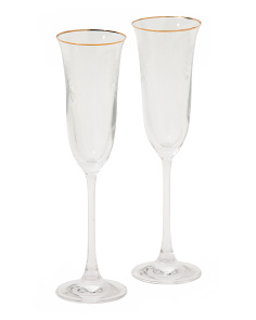 2pk Old Country Rose Flutes