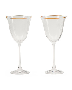 2pk Old Country Rose Wine Glasses
