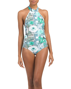 Designed In Australia High Neck One-piece Swimsuit