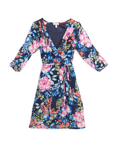 Big Girls Cold Shoulder Floral Dress