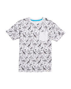 Big Boys Dino Pocket Tee