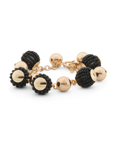 Bead Wrapped Ball Bracelet