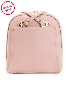 Multiple Zipper Structured Satchel