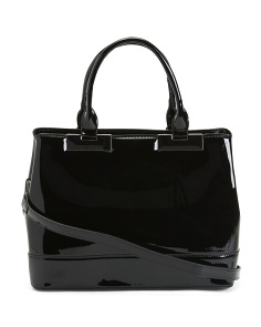 Patent Tote With Gunmetal Hardware