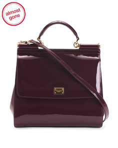 Made In Italy Regular Sicily Patent Leather Bag