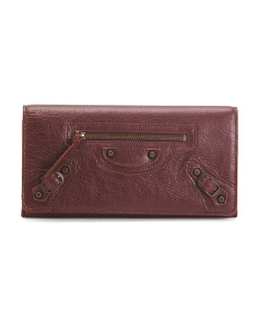Made In Italy Classic Money Leather Wallet