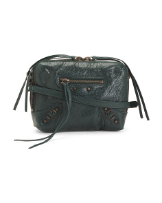 Made In Italy Classic Reporter Leather Crossbody