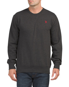 Heather Crew Neck Fleece Sweatshirt