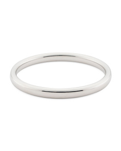 Made In Italy 14k White Gold Bangle Bracelet